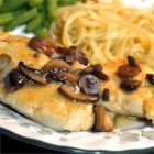 Healthier Chicken Marsala - Herbed chicken in a Marsala and mushroom sauce, this recipe has been made healthier by reducing the amount of wine and sherry and cutting out the oil.