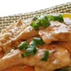 Chicken with a Creamy Marsala Sauce - Pan-fried chicken simmers in a creamy Marsala sauce in this quick recipe.