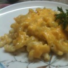 Baked Macaroni - Simple and cheesy homemade baked macaroni dish.