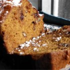 Applesauce Pumpkin Bread - Spiced pumpkin bread loaded with walnuts and chocolate chips uses applesauce instead of oil for a crowd-pleasing treat during the holiday season.
