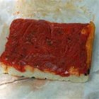 Rhode Island-Style Pizza Strips aka Bakery Pizza - Simple pizza-flavored appetizers, inspired by the ones you can get at Italian bakeries and markets in Rhode Island, have optional pepperoni. It's best made with bulk pizza dough rather than a premade refrigerated crust.