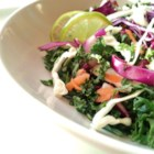 Sister Slaw - Deep green dinosaur kale, bright cabbage, carrots, and a splashy lime, maple, and balsamic dressing make a gorgeous, robust winter salad.