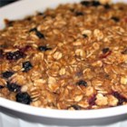 Pat's Baked Oatmeal - Many healthy breakfasts include oatmeal with fruit. Make this recipe and have extra on hand for reheating throughout the week.