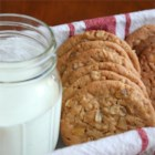 Ginger-Touched Oatmeal Peanut Butter Cookies - I based this recipe on Michele's Oatmeal Peanut Butter Cookies II, and had a WOW! moment when I added the ginger.