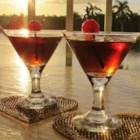 Mochatini - Chocolate and coffee liqueurs mixed with vodka and topped with a cherry. A great flavored martini...with a kicker...chocolate!