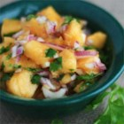 Peach Salsa with Cilantro and Lime - Peaches tossed with cilantro and lime juice make a tangy and sweet salsa perfect for dipping or a colorful side dish.