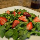 Sesame Strawberry Spinach Salad - Strawberries and spinach join a pungent dressing in this unusual salad combo. Sesame oil and balsamic vinegar give this version of poppy seed dressing a bit more robust taste.