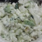 Yogurt Egg Salad - Greek yogurt replaces the mayo, but not the creaminess, in this easy egg salad.