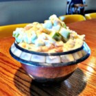 Taffy Apple Salad I - Pineapple, peanuts and lots of chopped apples are folded into whipped topping and a nice, thick cooked pineapple juice dressing.