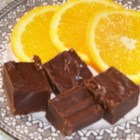 Orange Flavored Fudge - A quick and easy microwave fudge flavored with grated orange peel and orange liqueur.