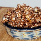 Chocolate Almond Popcorn - Sweet and salty chocolate-flavored popcorn, baked until dry and crunchy with roasted almonds, makes a great snack and a fun gift.