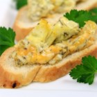 Artichoke Cheese Dip - A wonderful, rich appetizer, that is extremely delicious with toasted French Bread.