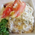 Allison's Cold Crab Dip - This simple, cold crab dip is sure to be a hit! Alter the ingredient amounts to taste. Serve with crackers.