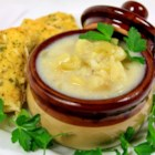 Potato Fish Chowder - This creamy chowder features cod and potatoes with clam juice for a warm bowl of soup.