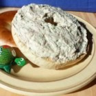 Herbed Cream Cheese With Scallions and Tuna - Herbed Creamed Cheese With Scallions and Tuna brings together three kid pleasers: tuna, cream cheese and bagels.