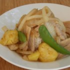 Pork & Pineapple Stir-Fry - This stir-fry is a simple, and quick recipe.  The plum sauce gives it a special lift, and everyone always seems to love it. Serve with steamed rice, or fried noodles can be mixed through the stir fry for a bit of extra crunch.