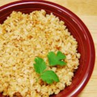 Baked Brown Rice - In this easy pilaf, seasoned brown rice is started on the stovetop and finished in the oven.