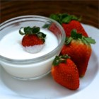 Casey and Leigh's Delightful Fruit Dip - Cream cheese, marshmallow creme and vanilla yogurt are blended and tinted with food color for a festive dip.
