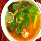 Vegetable Tom Yum Soup - This is a vegetable version of the classic Thai Tom Yum soup. You can find lemongrass, kaffir lime leaves, and galangal (a close relative of ginger) at any Asian supermarket.  If you can't find the lime leaves, you can add extra lime juice to taste, but do try to find the lime leaves because they make a big difference.  It tastes just like my local Thai restaurant!