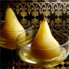 Pears Panos - Bosc Pears make their own light syrup right on the stove top.  Add a touch of vanilla and orange liqueur, and you have an autumn dessert that won't weigh you down.