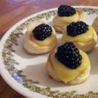 Lemon Berry Tartlets - Frozen puff pastry cut into small rounds makes a quick yet elegant dessert. Fill them with lemon curd, chocolate mousse, or anything you choose!