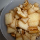Passover Apples and Honey (Charoset) - Charoset made of chopped apples, spiced with cinnamon and sweetened with honey and grape juice, is a beloved tradition for Passover.