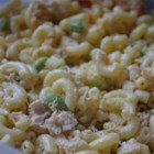 Kara's Summer Salad - Edamame and sunflower seed kernels give a different spin on the macaroni salad tradition.