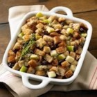 Whole Grain Apple and Herb Stuffing - Lighten up your stuffing recipe by using whole grain bread, olive oil, dried fruit and apples.