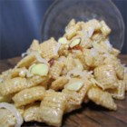 Heavenly Mix - Two kinds of cereal, almonds and coconut combine to make a yummy, sweet snack mix.
