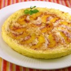 Peachy Baked Pancake - This baked pancake is topped with a layer of peach slices, for a fruity breakfast treat.