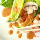Japanese Salad Dressing - Ginger, celery, and onion are pureed into a mixture of soy sauce, lime juice, and ketchup in this salad dressing recipe.