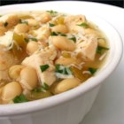 Easy White Chicken Chili - This white chicken chili recipe uses cannellini beans and diced chicken breasts in a chicken broth base.