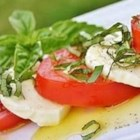 Insalata Caprese II - Fresh, top quality ingredients are important in this simple salad.