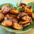 Baked Sweet Potatoes - This tasty baked sweet potato recipe uses simple seasoning to make a quick and easy, family-friendly side dish.