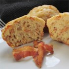Bacon Cheese Muffins - Bacon and Cheddar cheese in a portable form thanks to this muffin recipe.