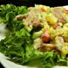 Ham Salad for Two - This delicious blend of ham strips and fresh crunchy celery sweetened with sweet pickle is suitable enough for a meal in itself or with other salads.