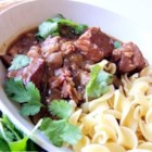 Belgian Beef Stew - Lemon, dark beer, and bacon add distinctive flavor elements to this 'carbonnade' style stew. Traditionally, Flemish beef stew is the only kind that uses beer in its preparation.