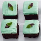 Mint Chocolate Brownie Bars - Brownies and cookies come together in one delicious dessert bar--topped with chocolatey mint frosting.