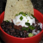 Quick Black Bean Soup - This is a quick and easy way to make a black bean soup by blending cans of black beans with a can of diced tomatoes with green chilies.