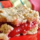 Strawberry Rhubarb Coffee Cake - Strawberries and rhubarb combine to make a sweet, fruity filling in this coffeecake. Add nuts to the streusel topping, if you like.