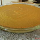 Easy Crustless Pumpkin Pie - This creamy, crustless pumpkin pie uses egg substitute, sweetener, and fat-free milk.