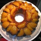 Peach Upside-Down Cake III - Made with fresh peaches and reduced-fat buttermilk, this cake is easy and delicious.