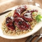 Chicken Saute with Triple Berry Glaze - Pan-fried chicken gets a hint of sweetness from berry preserves and a zesty kick from horseradish in this quick and tasty preparation.