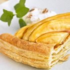 Bananas Foster over Puff Pastry - Even better than the classic version, this Bananas Foster is served over a round of flaky Pepperidge Farm(R) pastry and decorated with a spoon of cinnamon-spiked sour cream.
