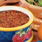 Turkey Bean Chili - Four kinds of beans and plenty of seasonings make this chunky chili a crowd-pleaser, particularly on autumn days. 'Serve bowls sprinkled with your favorite shredded cheese,' suggests Judith Whitford of East Aurora, New York.