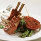 BBQ Roasted Rack of Lamb - Cooking rack of lamb can be intimidating for many people, but this elegant recipe is so easy to prepare it will soon become a staple in your entertaining repertoire.