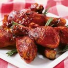 Honey-Spice Drumsticks - Featuring a sweet and saucy ketchup-based glaze, accented with orange, herbs and spices, these tender drumsticks are sure to be a hit at your next barbecue or picnic.