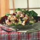 Waldorf Salad with Turkey & Apricot - A sweet and savory turkey salad made with apples and raisins and celery. SMUCKER'S(R) Apricot Preserves lend a sweet tanginess to the dressing.