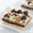 Dark Chocolate Crumb Bars - These fudgy bars are rich with NESTLE(R) TOLL HOUSE(R) Dark Chocolate Morsels.