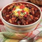 2-Bean Chili - This colorful chili features ground beef, green pepper, onion and beans in a spicy tomato gravy.